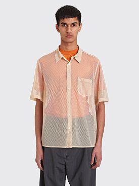 CMMN SWDN Niels Short Sleeve Mesh Shirt Beige
