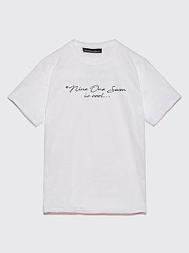 Nine One Seven Relax T-Shirt White