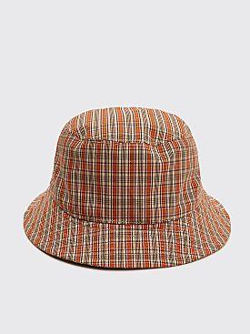 Acne Studios Buk Check Hat Red / Orange