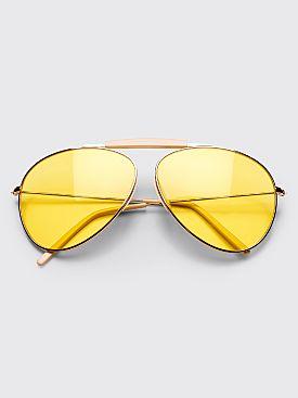 Acne Studios Howard Sunglasses Pale Gold Yellow