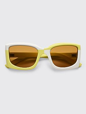 Acne Studios Anitha Sunglasses Acid Green Ivory / Brown