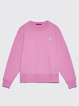Acne Studios Fairvew Face Sweatshirt Lilac