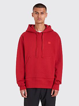 Acne Studios Ferris Face Sweatshirt Ruby Red