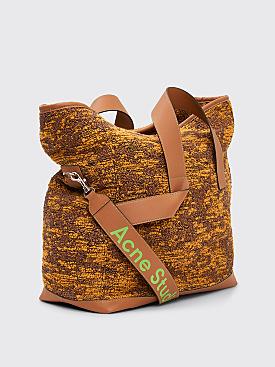 Acne Studios Weekender Bag Jacquard Camel / Black
