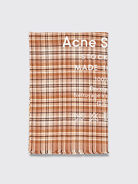 Acne Studios Cassiar Check Scarf Beige / Brown