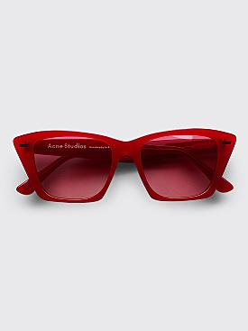 Acne Studios Ingridh Sunglasses Red
