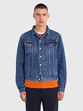 Acne Studios Blå Konst Tent Jeans Jacket Mid Blue