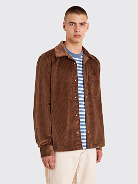 Acne Studios Denver New Cord Shirt Caramel Brown