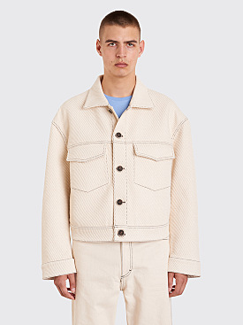 Acne Studios Magnite Giant Twill Jacket Ivory White