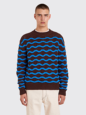 Acne Studios Wavy Sweater Brown / Blue
