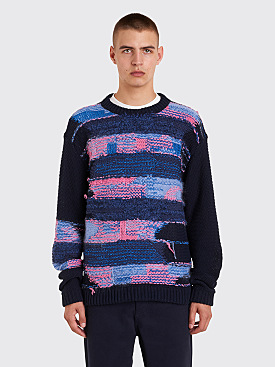 Acne Studios Nilvia Knit Sweater Navy / Purple