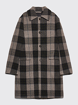 Acne Studios Checkered Coat Grey / Green