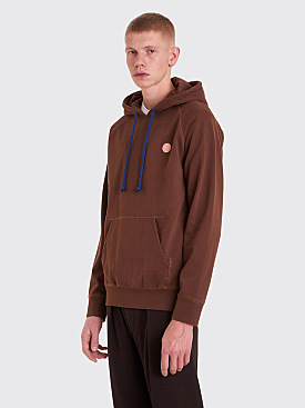 Acne Studios Blå Konst Hooded Sweatshirt Chocolate Brown