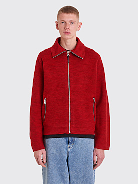 Acne Studios Naul Zippered Sweater Red