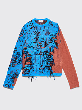 Acne Studios Tri-Colored Sweater Blue Melange