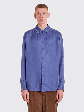 Acne Studios Blå Konst Road L Shirt Denim Blue