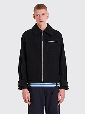 Acne Studios Boiled Wool Jacket Black