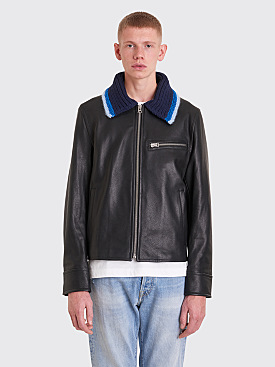 Acne Studios Flight Leather Jacket Black