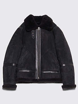 Acne Studios Ian Suede Jacket Anthracite Grey