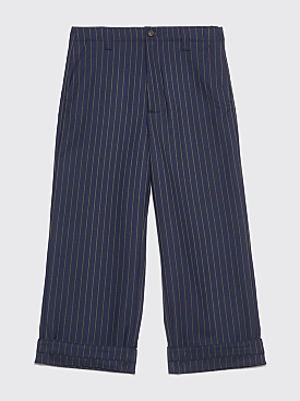 Acne Studios Avalite Pinstripe Pants Navy / Green