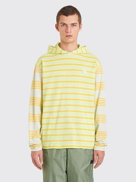 Acne Studios Face Longsleeve Hooded T-shirt Pastel Green