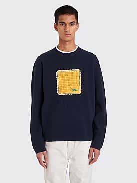 Acne Studios Aplique Sweater Navy Blue