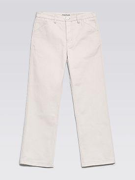 Acne Studios Five Pocket Pants Cold White