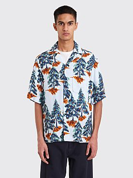 Acne Studios Print Shirt Pale Blue / Orange