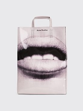 Acne Studios Baker Ap Tote Bag Black / White