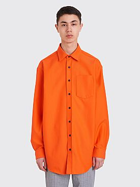 Acne Studios Atlent New Shirt Neon Orange