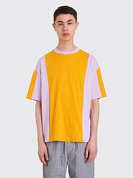 Acne Studios Contrasting Panel T-shirt Honey Yellow