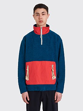 Acne Studios Terrycloth Sweatshirt Teal Blue