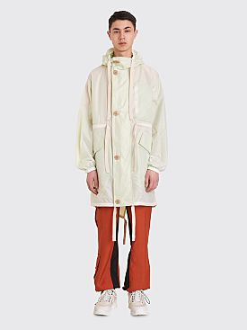 Acne Studios Oversized Parka White / Green