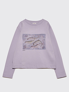 Acne Studios Oslavi P Fish Sweatshirt Aleutian Blue