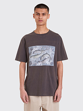 Acne Studios Bemabe Print T-Shirt Faded Grey