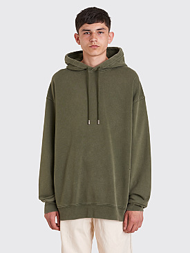 Acne Studios Fala Wash Hooded Sweatshirt Safari Green