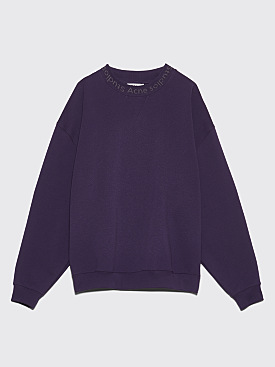 Acne Studios Flogho Sweatshirt Plum Purple