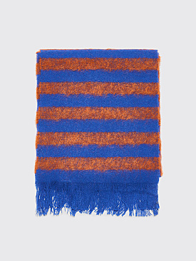 Acne Studios FN-UX-SCAR000001 Striped Scarf Rust / Blue