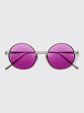 Acne Studios Scientist Sunglasses Silver Satin / Purple