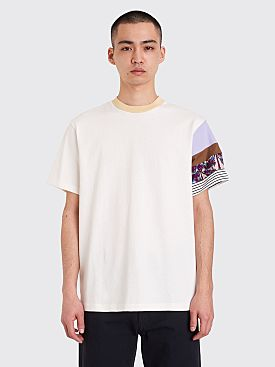 Acne Studios Eli Printed Sleeve T-shirt Off White