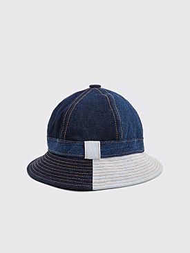 Acne Studios Blå Konst Patchwork Denim Hat Indigo Blue