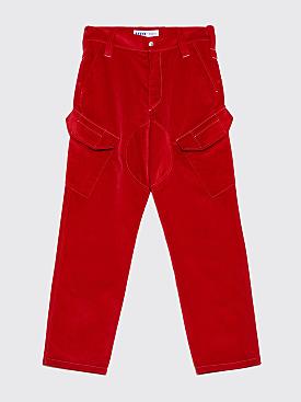 AFFIX 5 Pocket Service Pants Red