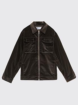 AFFIX Two Way Zip Service Jacket Grey