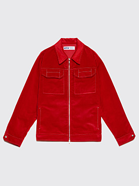 AFFIX Two Way Zip Service Jacket Red