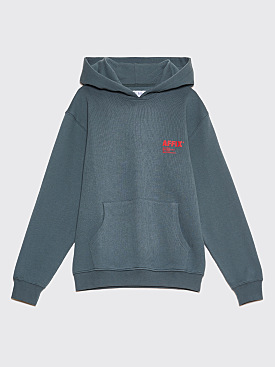 AFFIX Logo Print Hooded Sweatshirt Grey