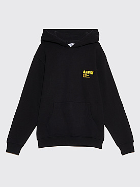 AFFIX Logo Print Hooded Sweatshirt Black