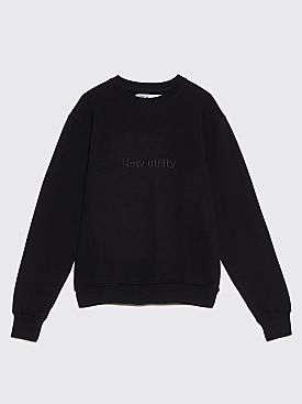 AFFIX New Utility Embroidery Crew Neck Sweatshirt Black