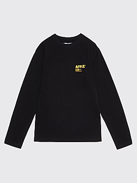 AFFIX Logo Print Long Sleeve T-Shirt Black