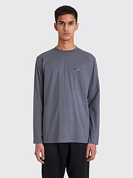 AFFIX Double Chest Pocket LS T-shirt Utility Grey