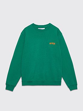 AFFIX Embroidery Crew Neck Sweatshirt Service Green